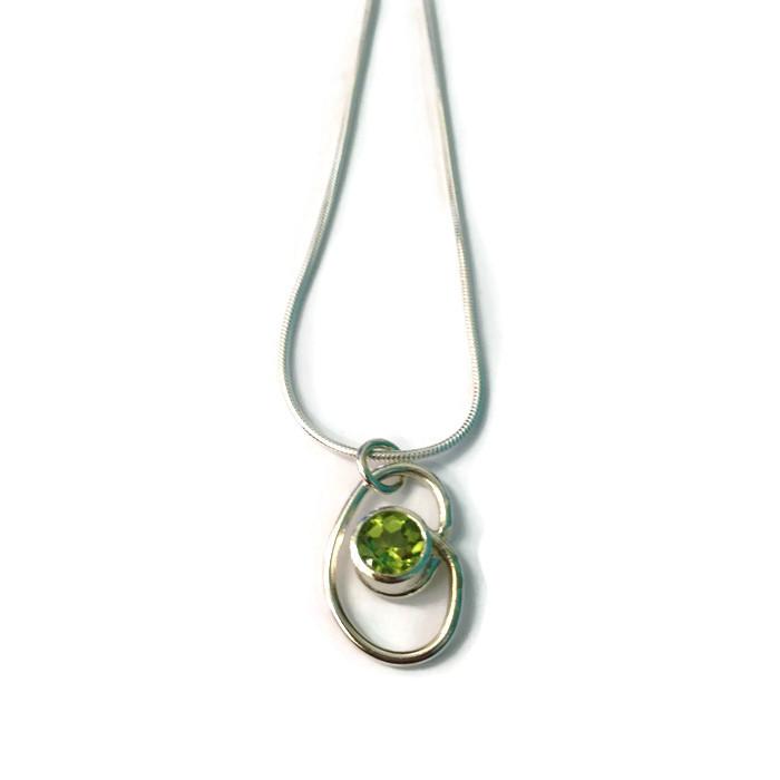 Small wrap pendant  peridot  £88