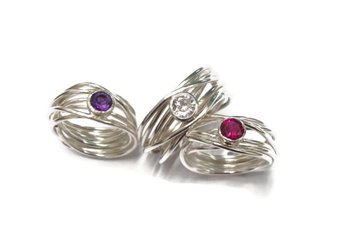 7 strand wrap rings  £99 each