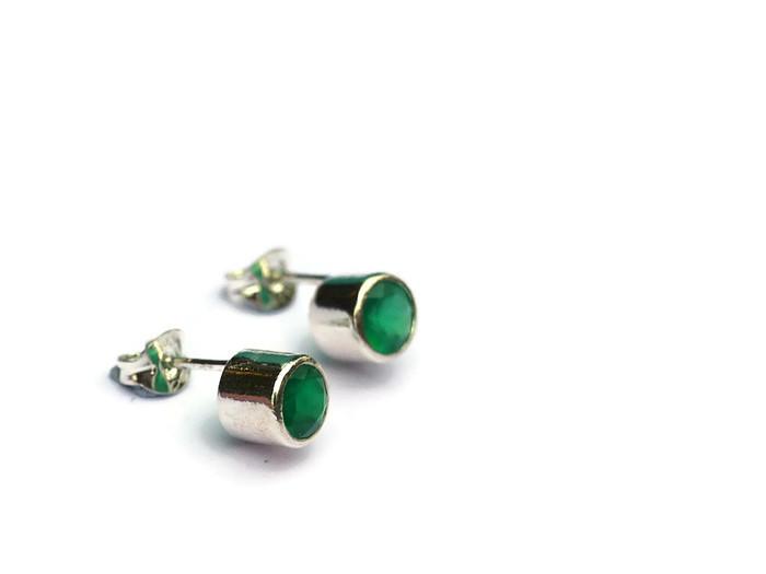 green onyx studs  £71
