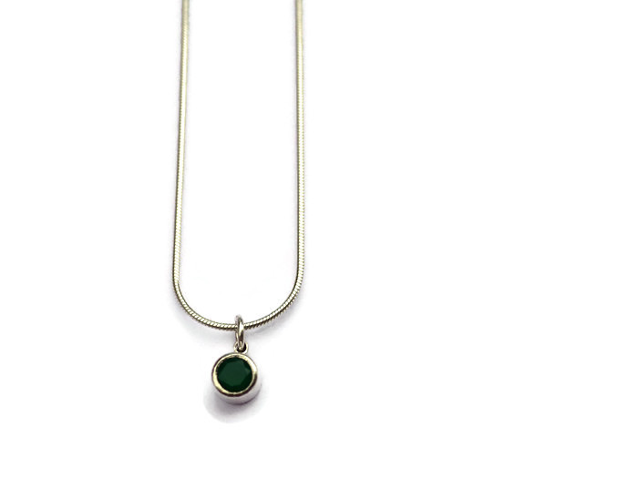 green onyx pendant  £60