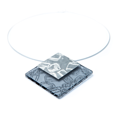 Spice Large Pendant with Silver - Grey