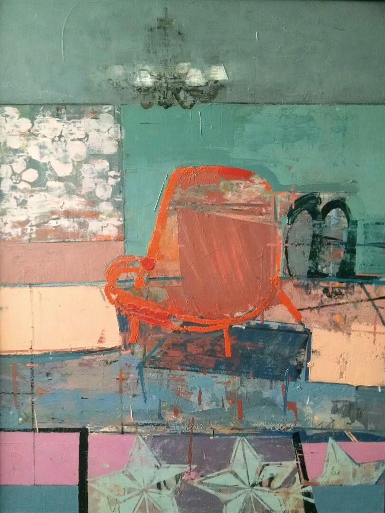 6mp_'orange chair' oil on paper 2014.jpg