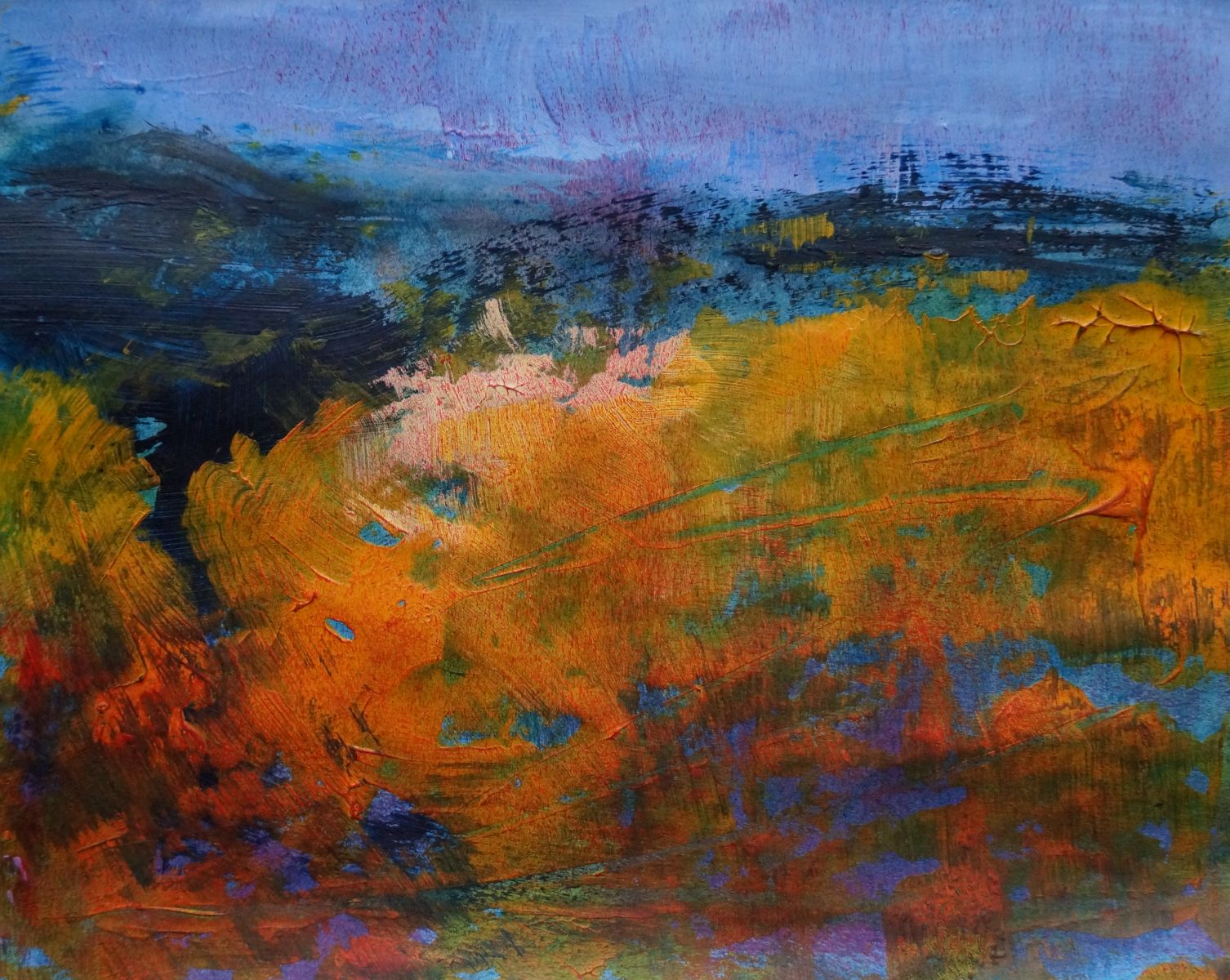 Alison Tyldesley  Blustery Moorland  36x36cm