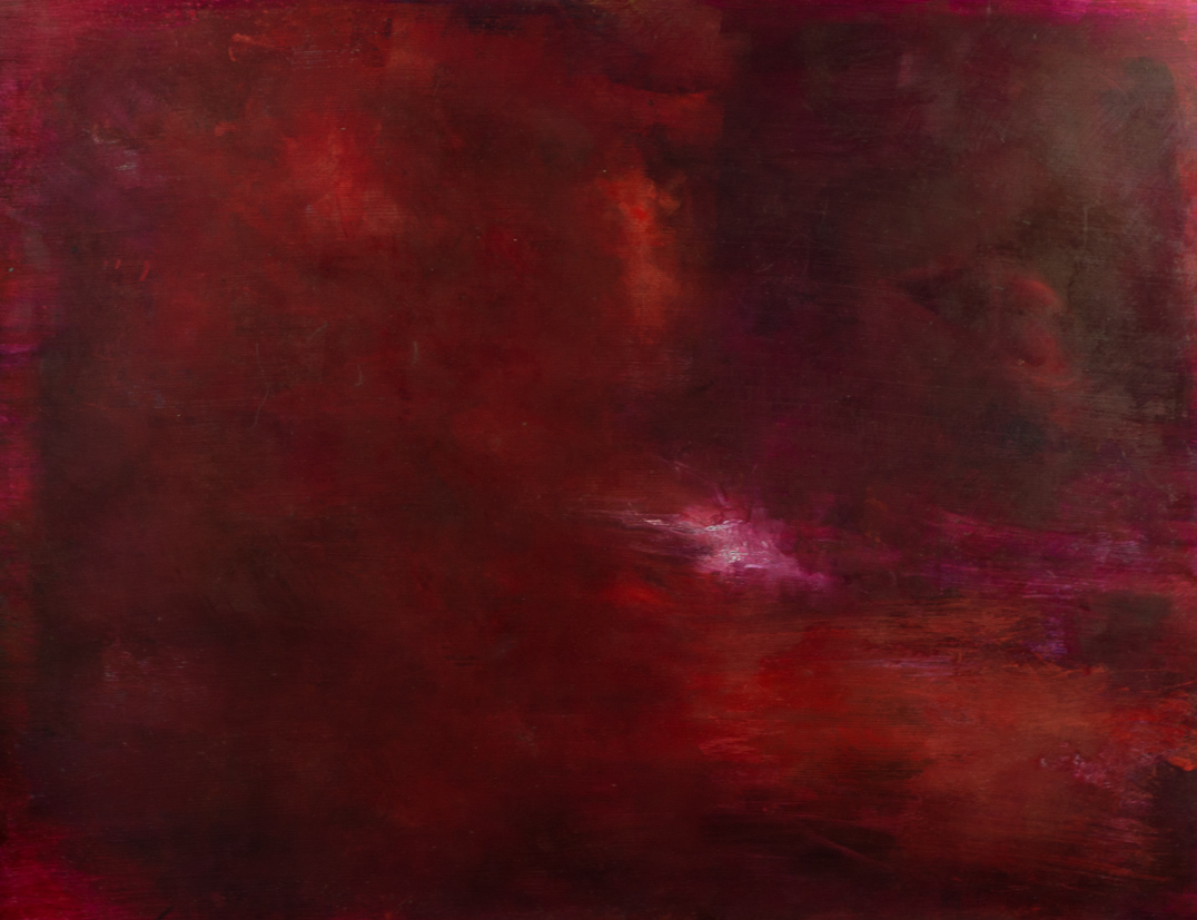 Deep red  Oil on board  81x62 cms