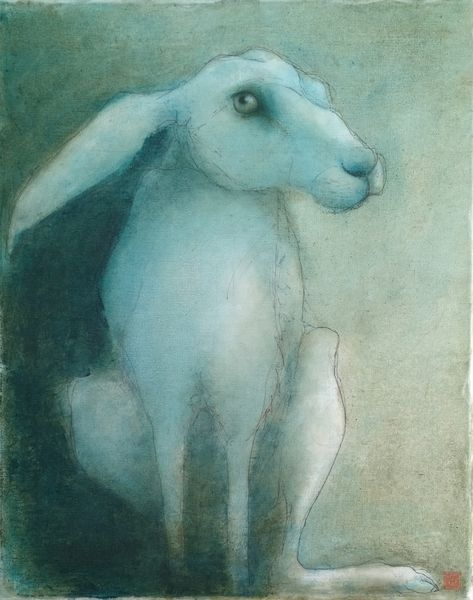 March Hare  mixed media on board 40 x 50 cm  £400