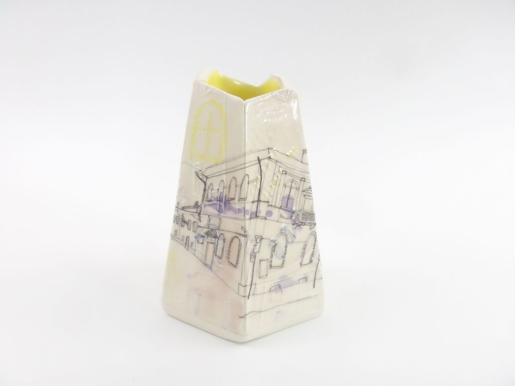 Small Italian Vessel - Yellow Interior Glaze  £90