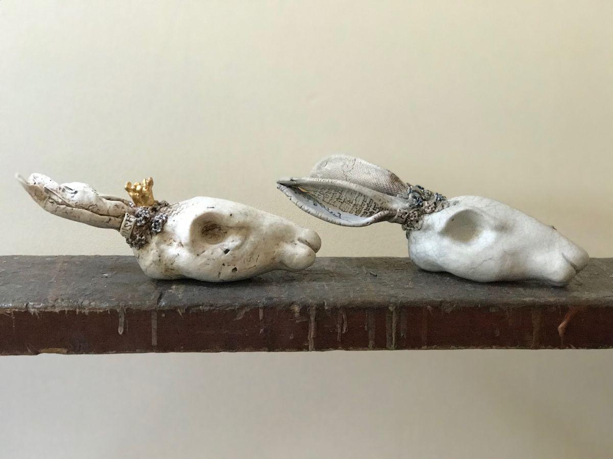 Hares  Porcelain & stoneware  £220 each