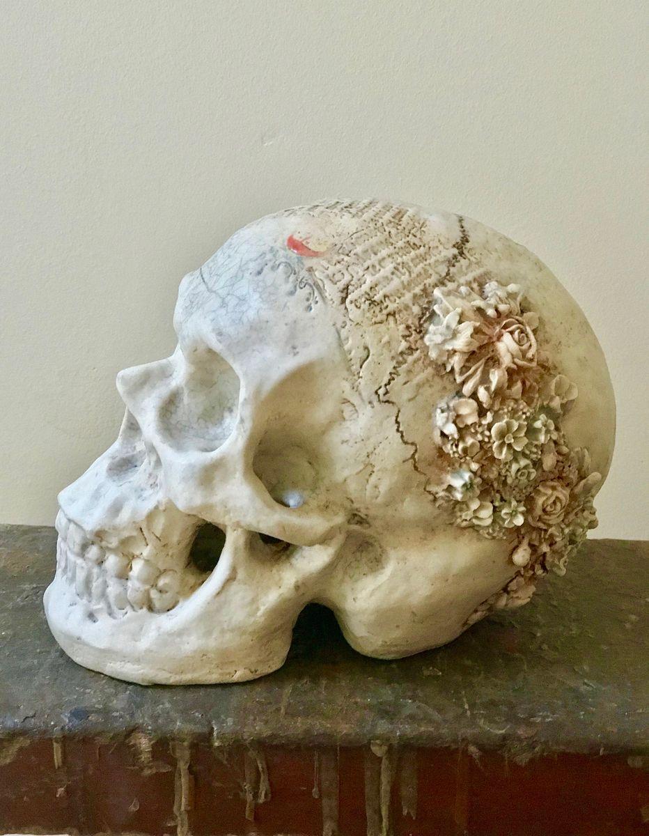 Matilda (Mother of Merlin)  Stoneware skull   £400