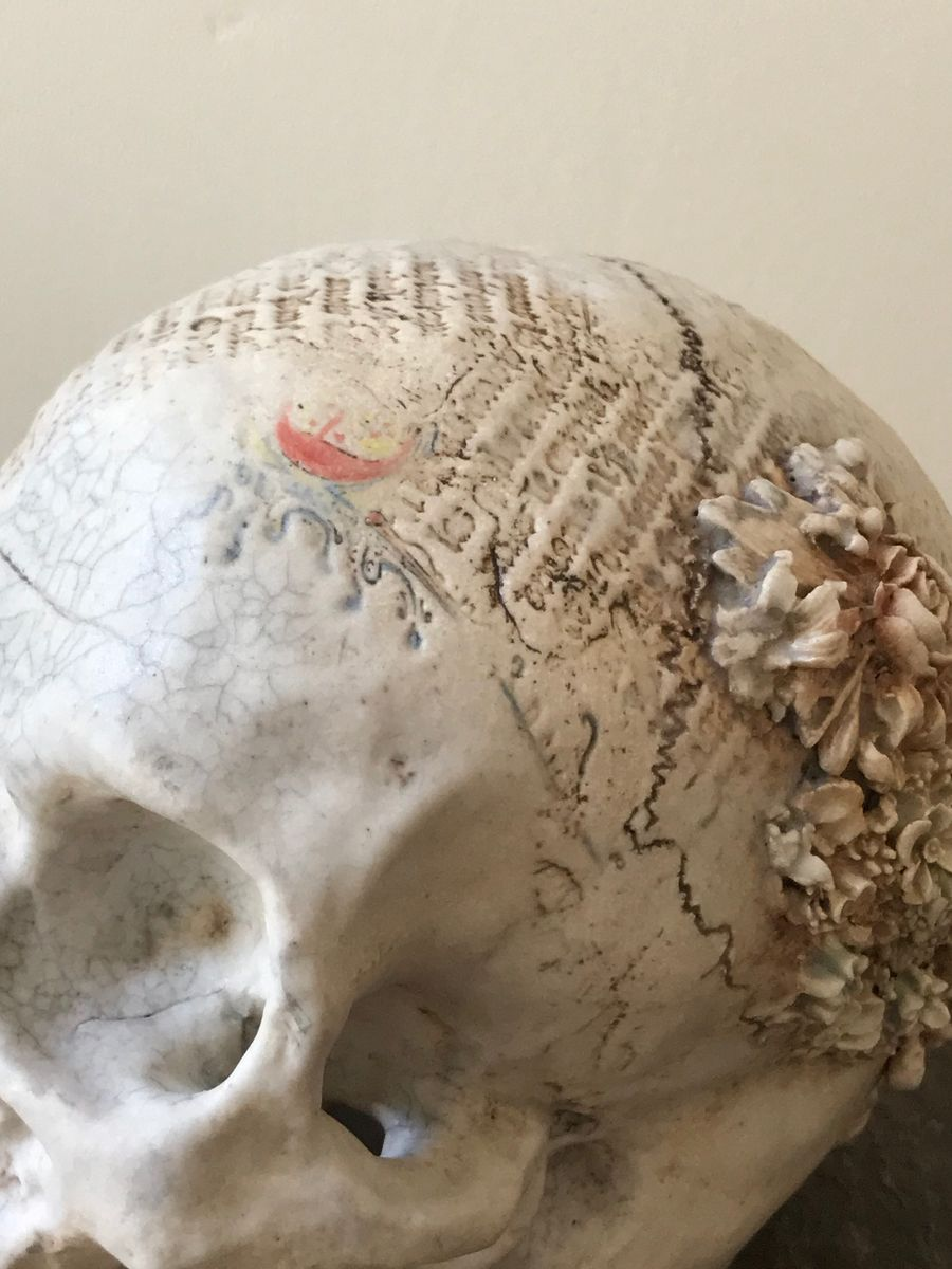 Matilda (detail)  Stoneware skull  £400