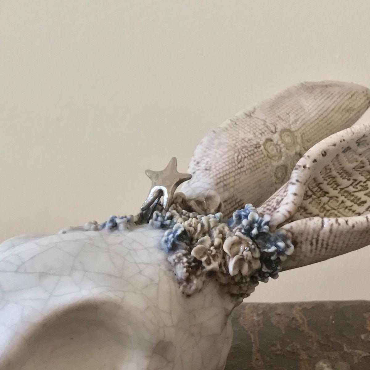 Hare (detail)  Stoneware & porcelain  £220