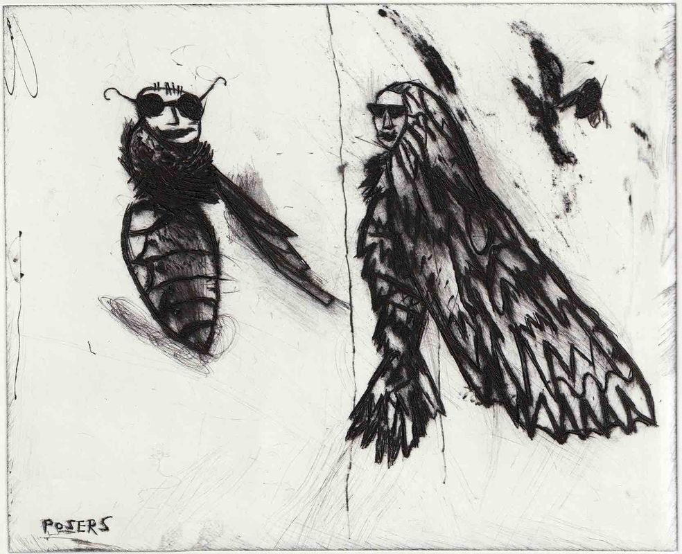 800_posers drypoint etching 30 x 25 framed £300 .jpg