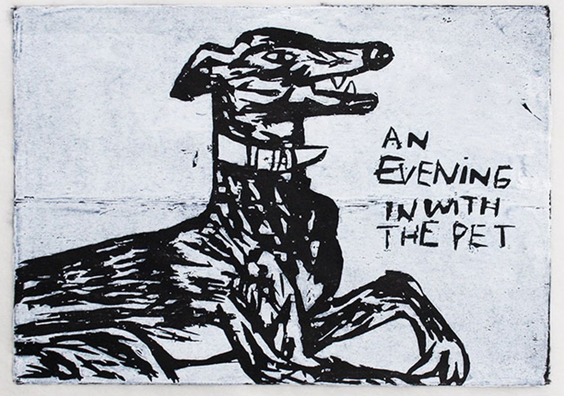800_an evening in with the pet woodcut 29 x23 framed £200.jpg