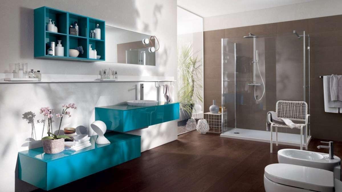 bagno-azzurro-scavolini bicolor tendenze 2017 design bagno arredo