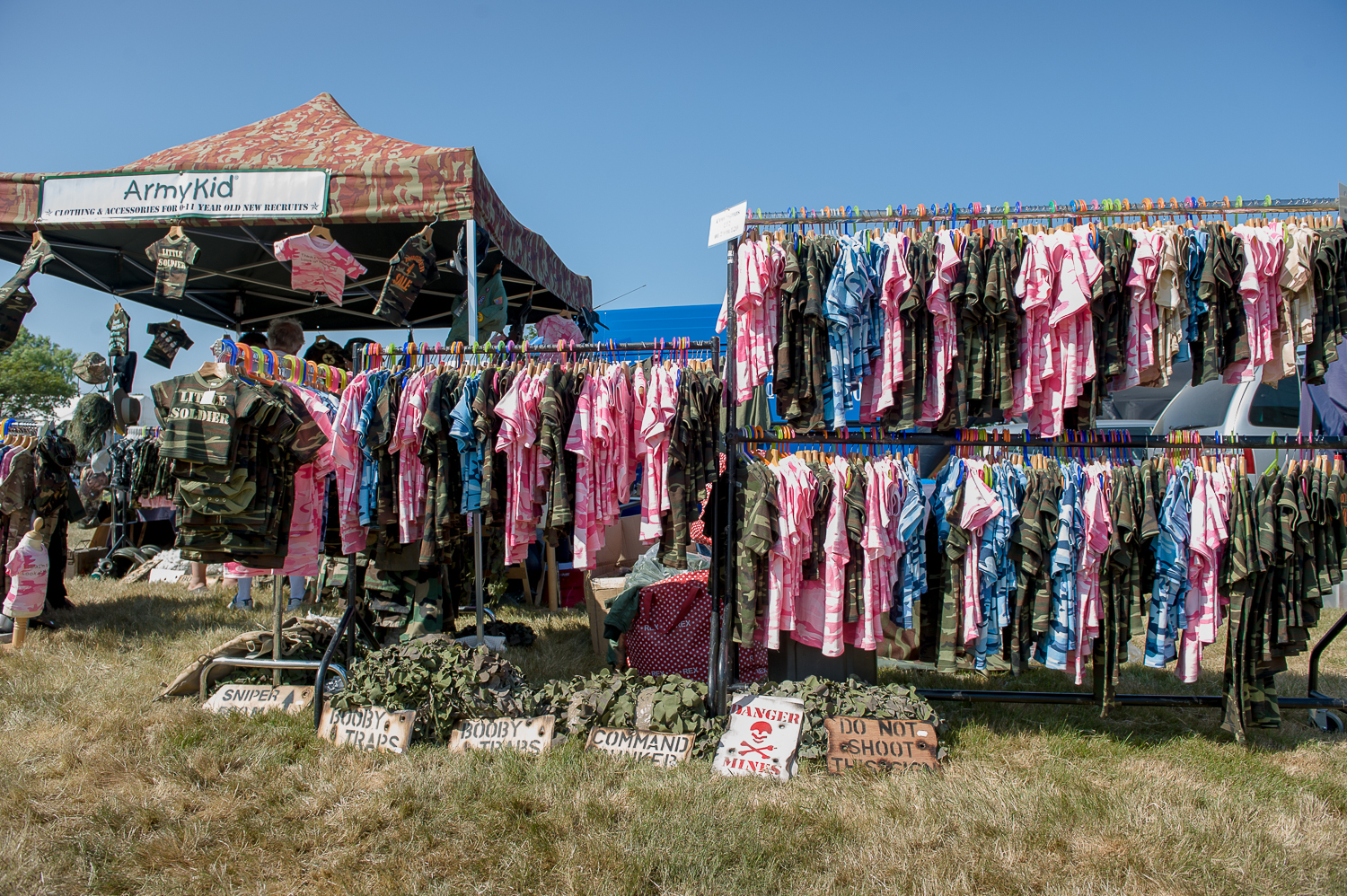 """Army Kids"" stall at War and peace show, kent"