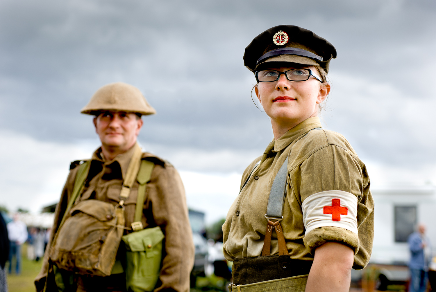Father and daughter re-enactors, Essex