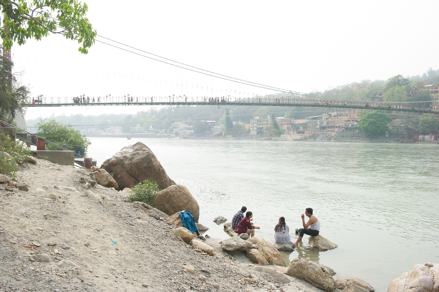 Ram-Jula suspension bridge, Rishikesh, 2109