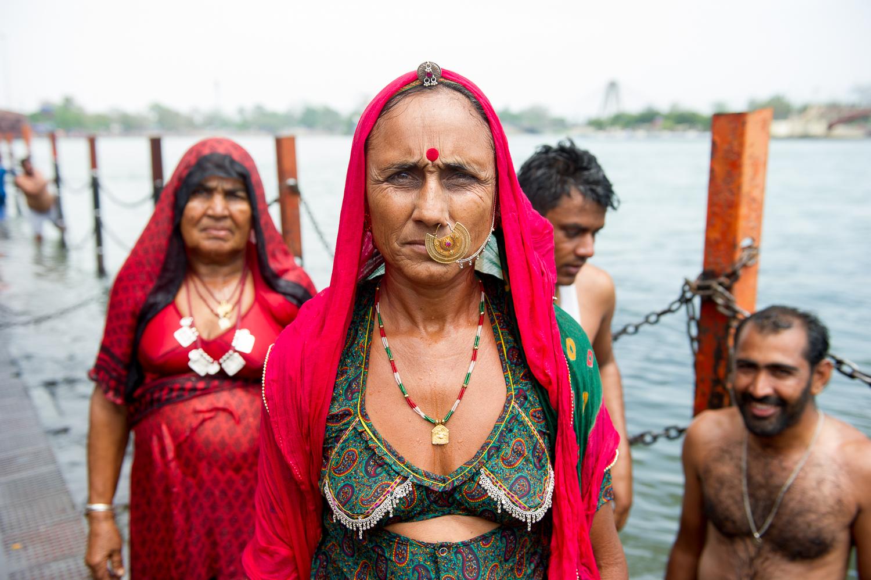 Rajasthani Pilgrims near ghat, Haridwar, 2019