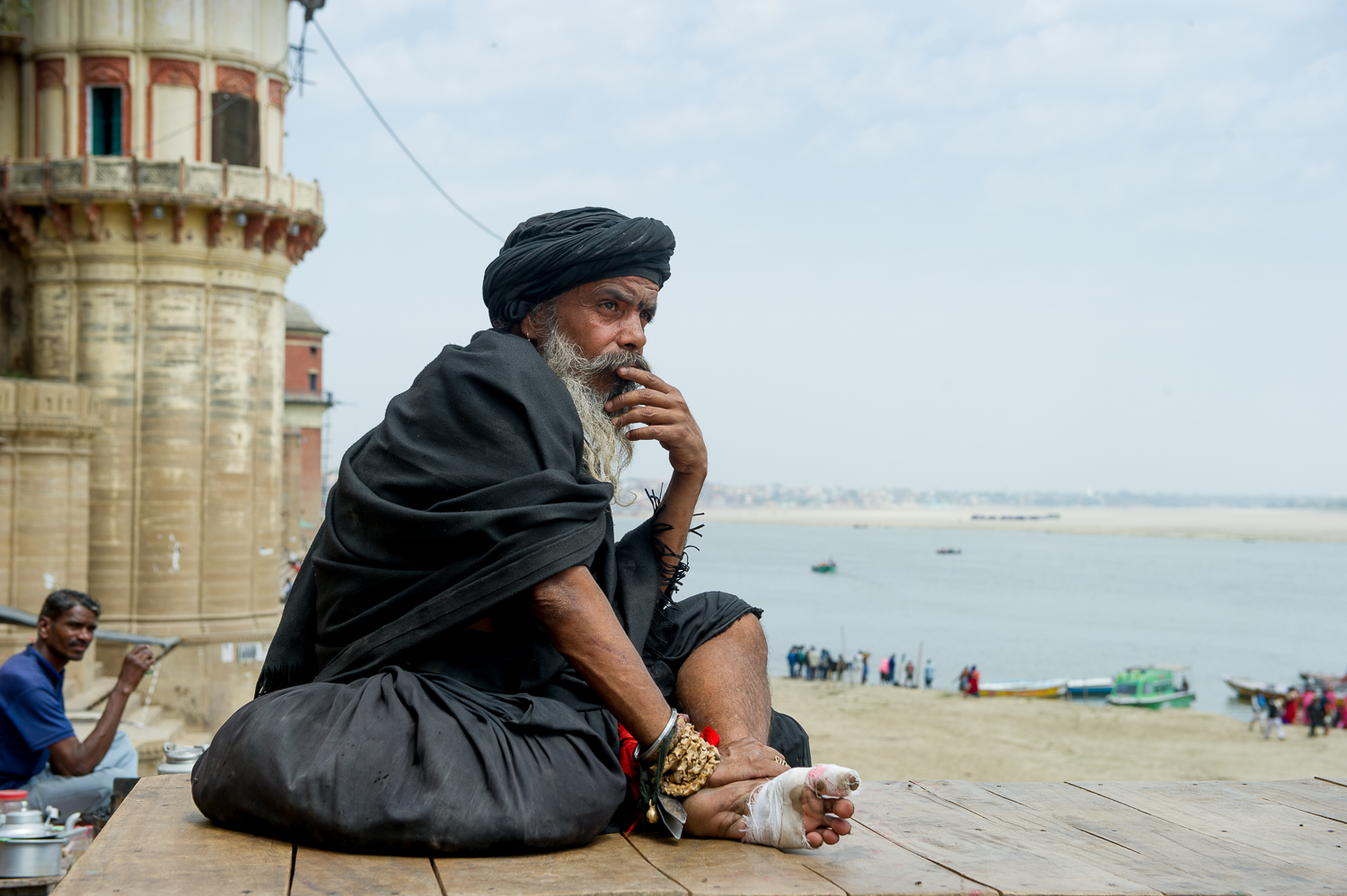 Sadhu near the ghats, Varanasi, 2019