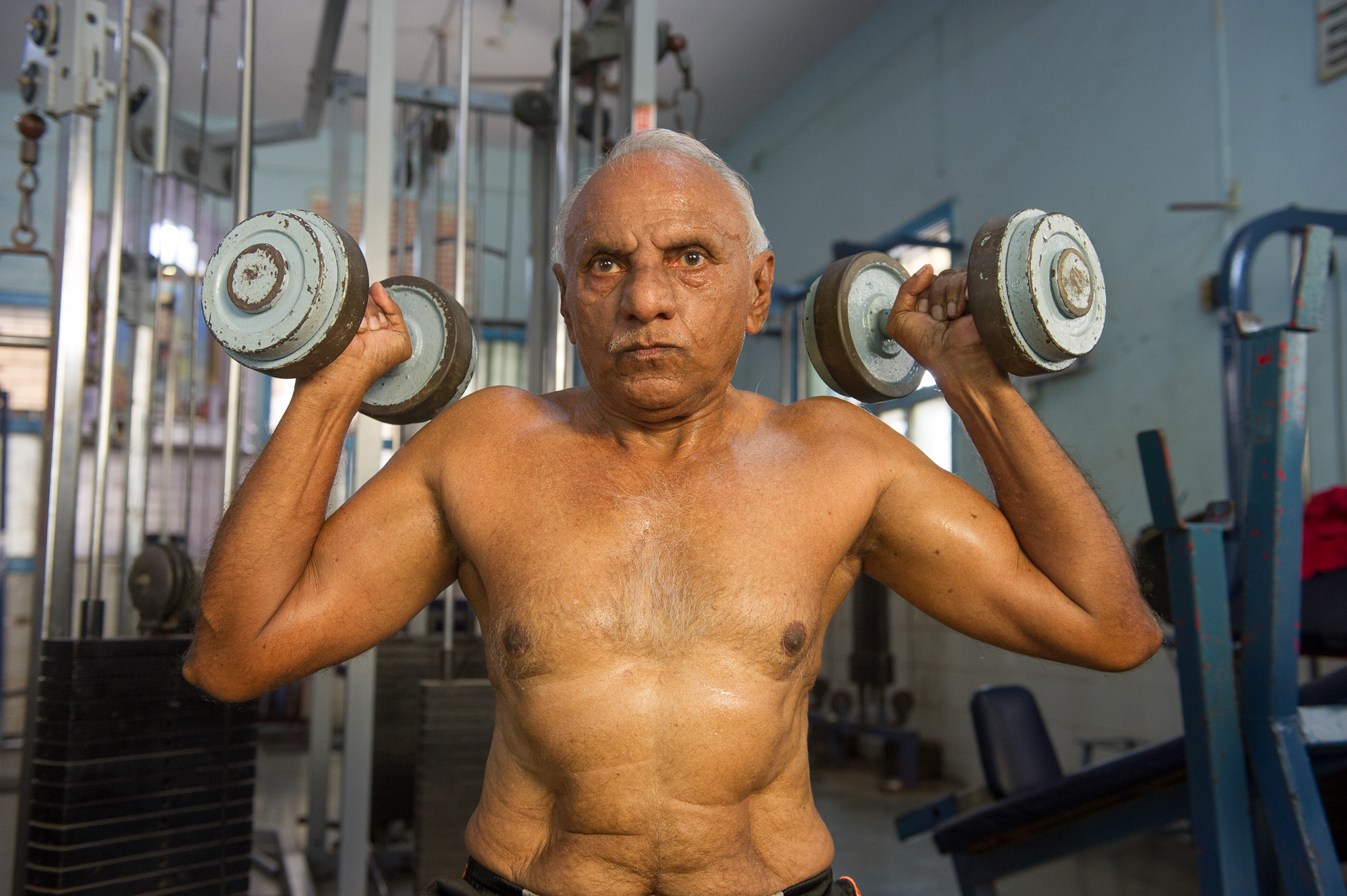 Patel, 72 year old body builder, Mumbai,2019