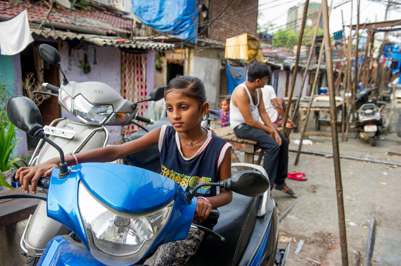 Riding practice,  Dhobi Ghat, Mumbai, 2019