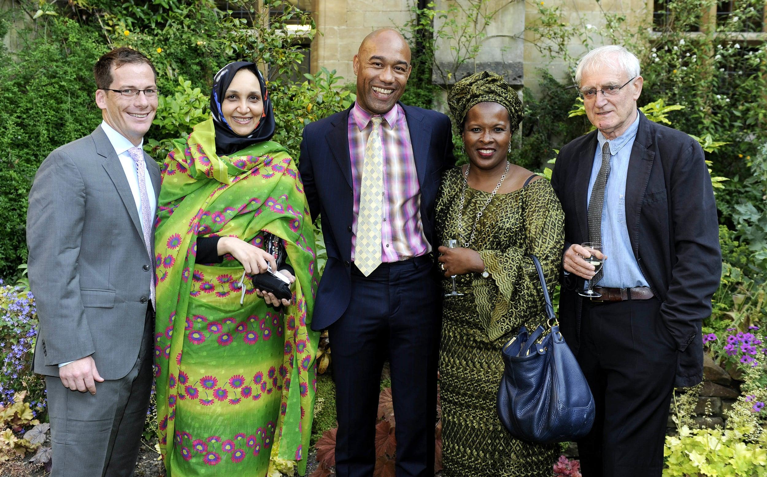 L to R: Nathan Hensley, Leila Aboulela, Gus Casely-Hayford, Sokari Douglas Camp, John Sutherland