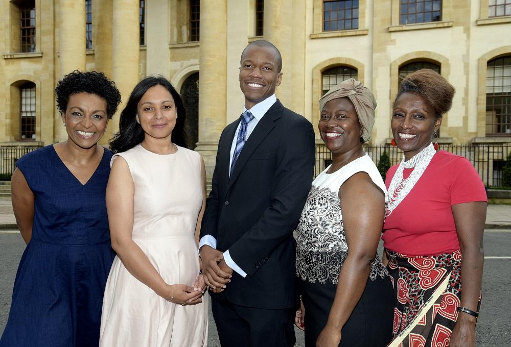 L-R: Adjoah Andoh, Mary Watson, Robert Patterson, Delia Jarrett-Macauley, Muthoni Garland