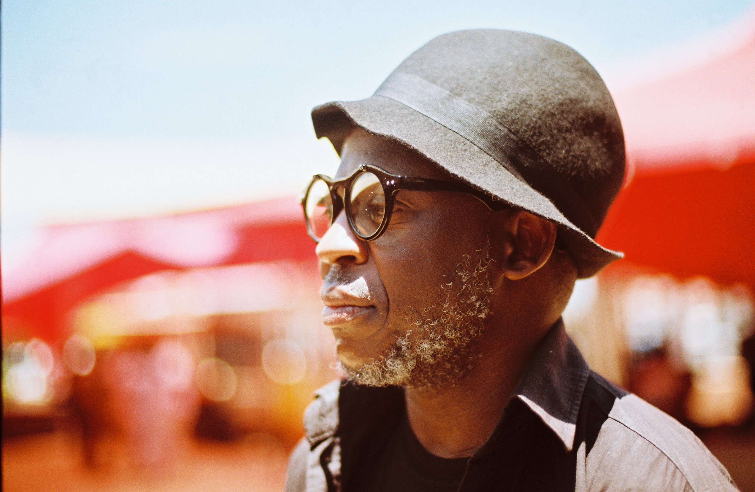 Essayist, Bongani Madondo, captured by Lidudumalingani at Abantu Book Festival