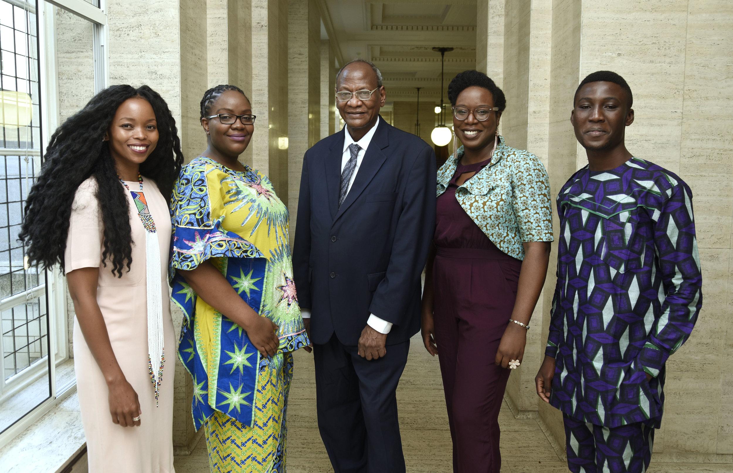 L-R: Magogodi oaMphela Makhene, Chikodili Emelumadu, Bushra al-Fadil, Lesley Nneka Arimah and Arinze Ifeakandu
