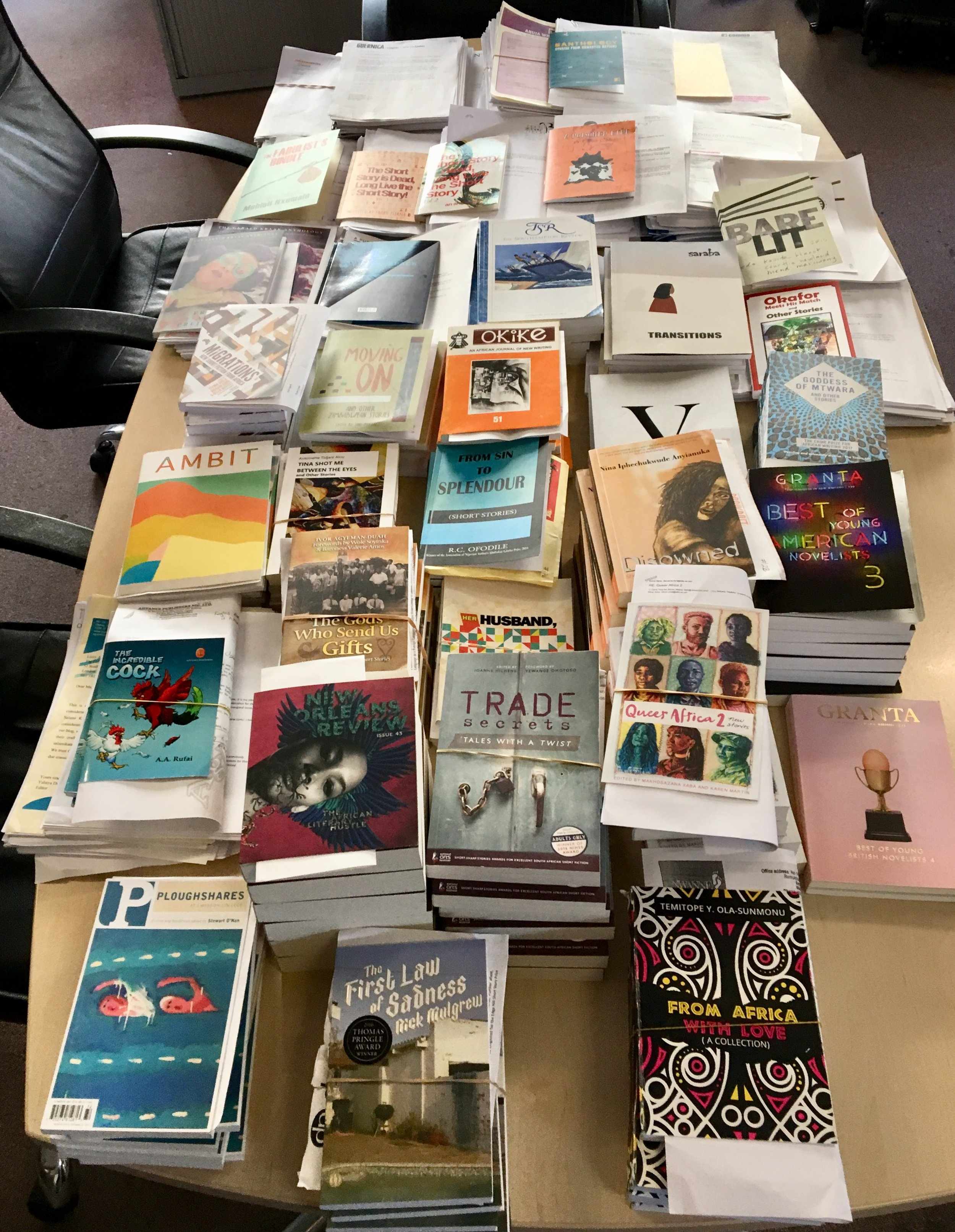 Submissions received for this year's Caine Prize for African Writing – representing 20 African countries