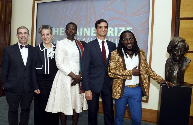 L-R: Ricardo Ortiz, Ranka Primorac, Monica de Arac Nyeko, Ghazi Gheblawi and Nii Ayikwei Parkes