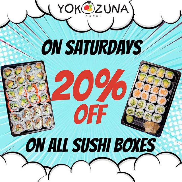 🎏TASTY SATURDAY!!😋 🕒 12:00-21:30🕒 All of our SUSHI BOXES will be 20% OFF!!! 🍣🍣 . . . .  #sale #sushi #sushilovers #yokozunasushiberlin #sushibox #saturdays #tasty #yummymummy #berlin #germany #rosaluxemburgplatz #torstrasse