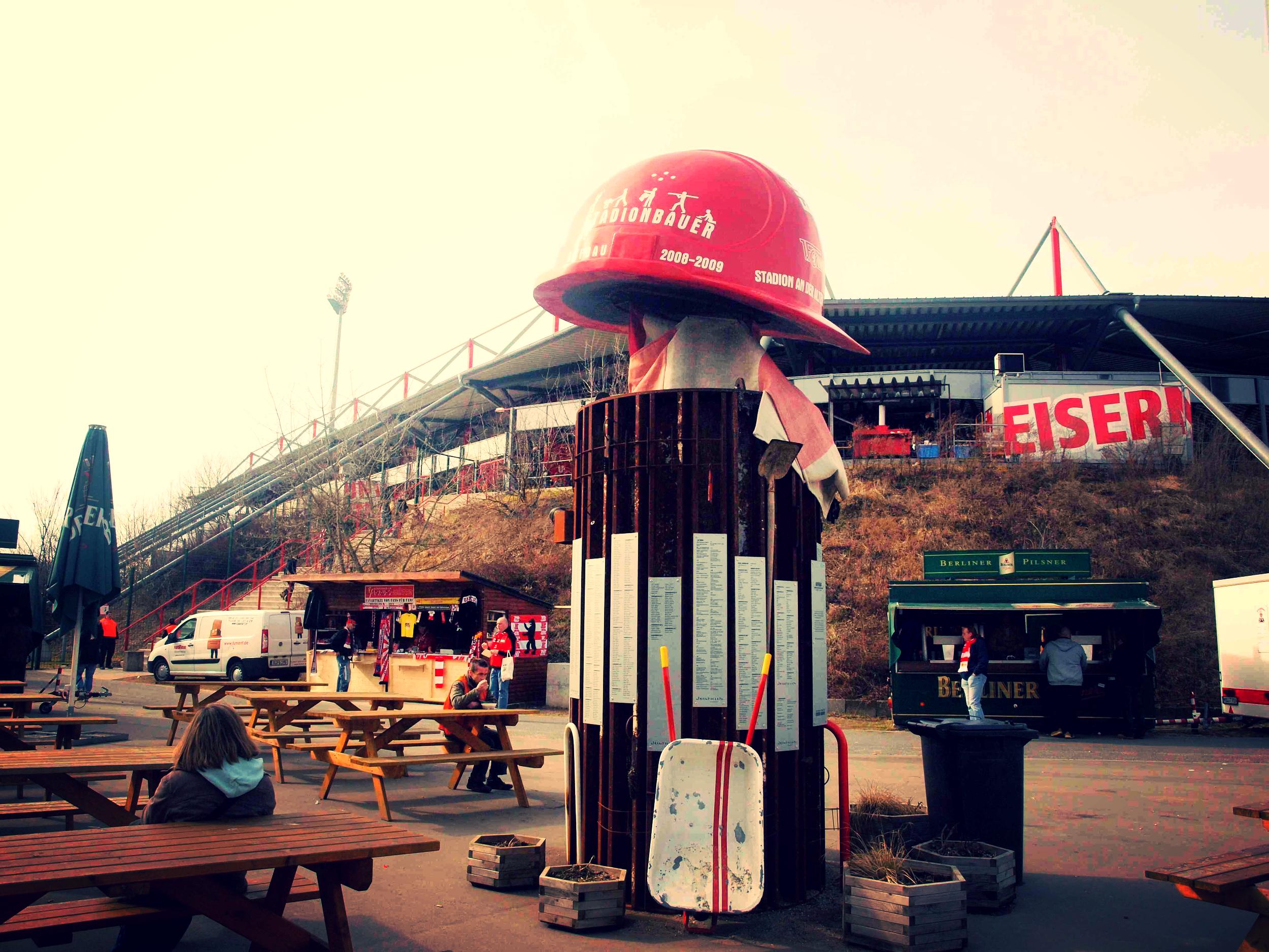 Union Berlin er østklubben, der har bygget sit eget stadion med hjælp fra 2000 fans. Foto: Dan Pedersen