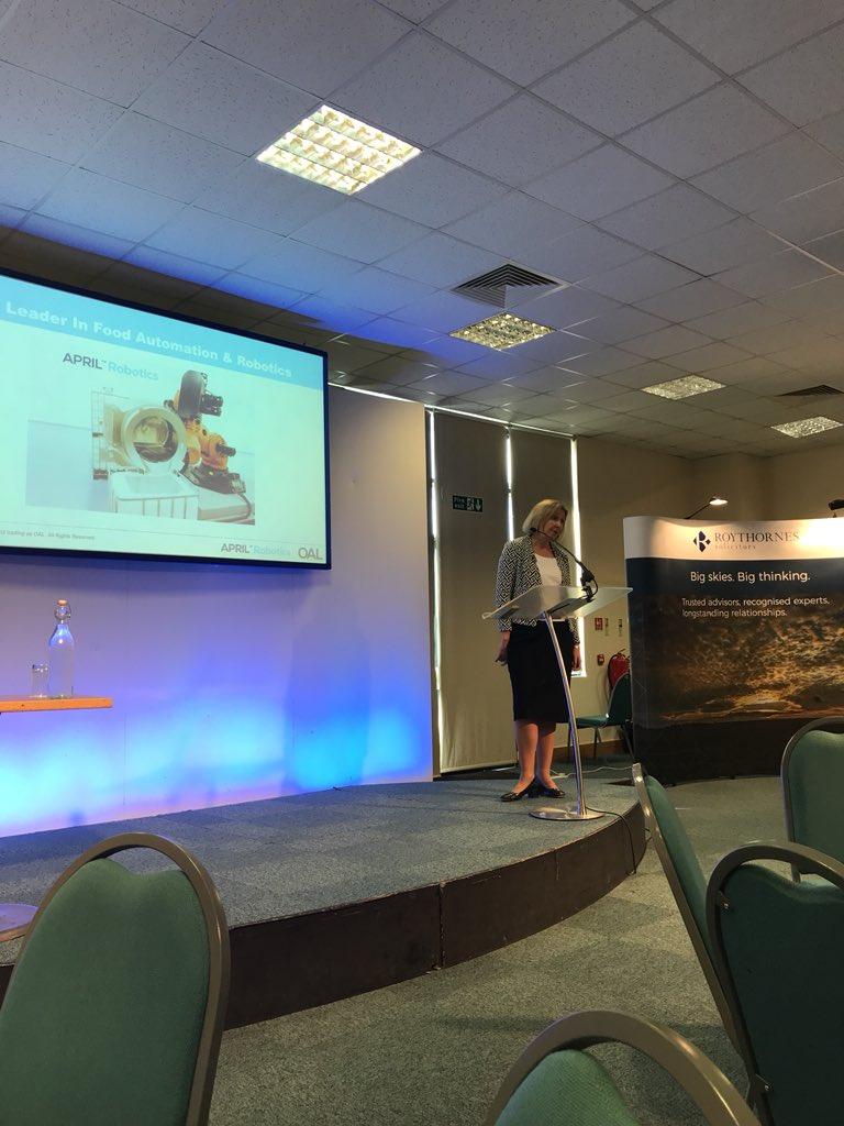 Samantha Norman speaking about robotics