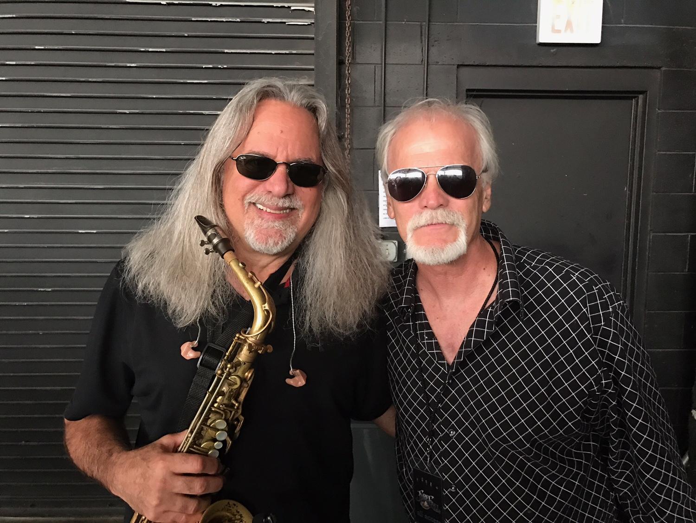 Fellow sax legend Mark Russo