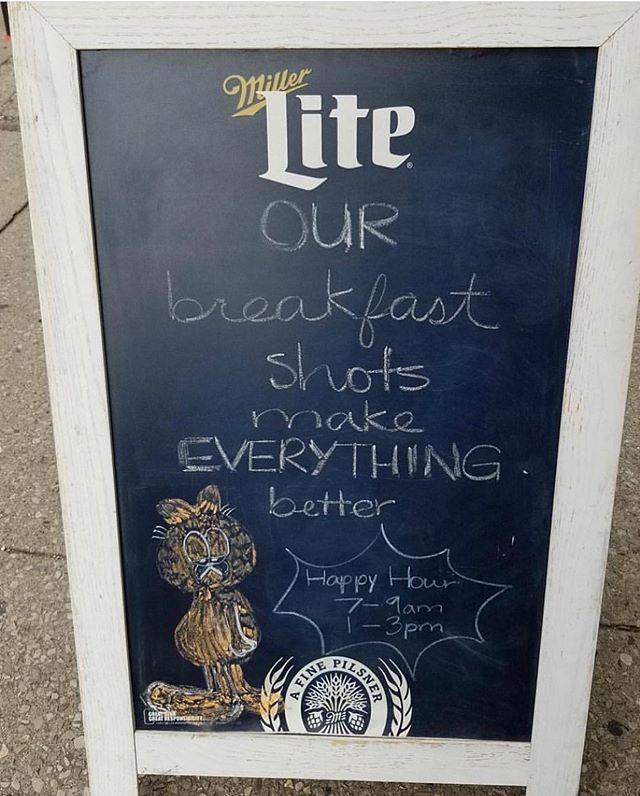 It's true, no one has ever left unhappy after breakfast shots #breakfastcuresall #eat614
