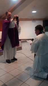 Fr. Brian Christopher, SJ,  pronounces his Final Vows in the Society of Jesus on March 11.