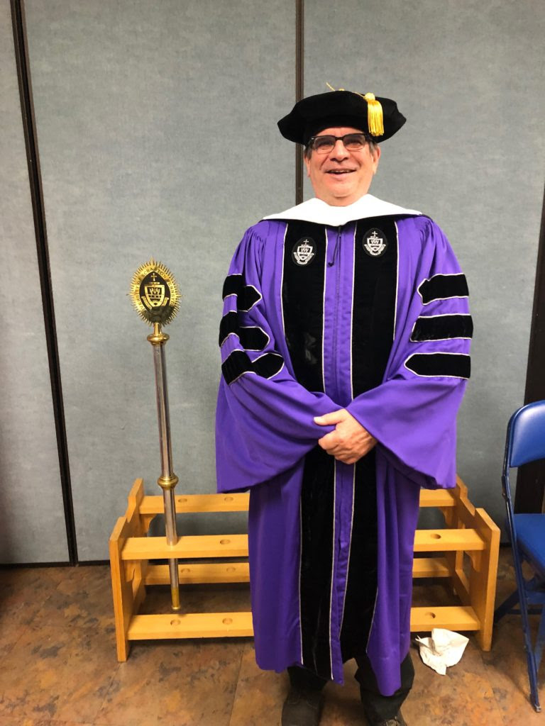 Fr. Matt received an honorary doctorate in humane letters from the University of Scranton in May.