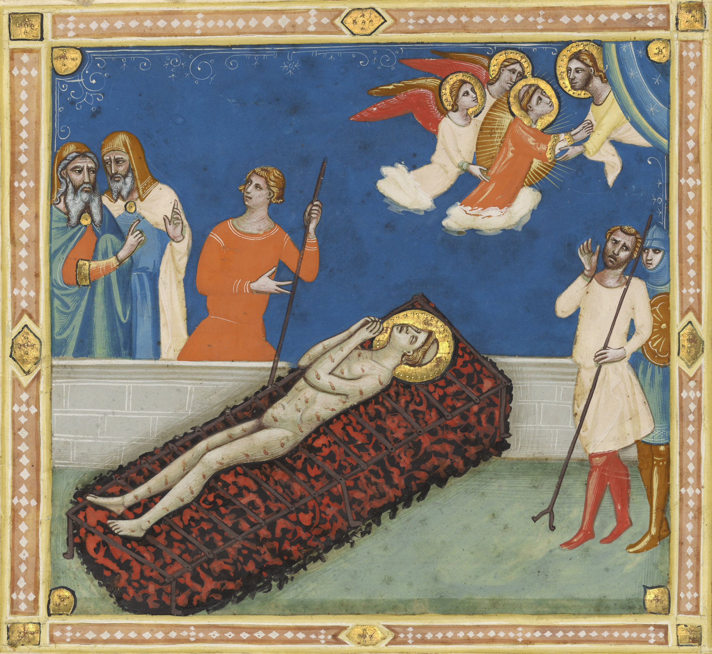 """The Martyrdom of Saint Lawrence"" by Pacino di Bonaguida, circa 1340. Digital image courtesy of The J. Paul Getty Museum's Open Content Program."