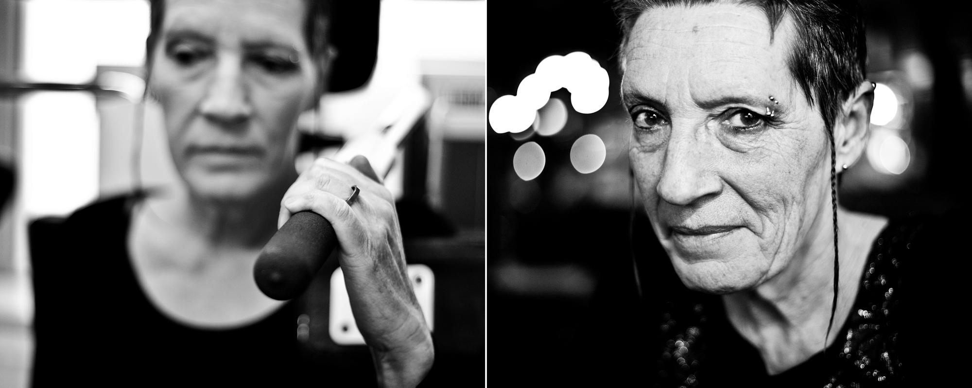 Tweeluik portret revalidatie zwart-wit kwetsbaar Eindhoven