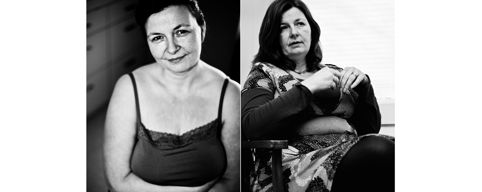 Tweeluik portret overgewicht zwart-wit kwetsbaar Eindhoven