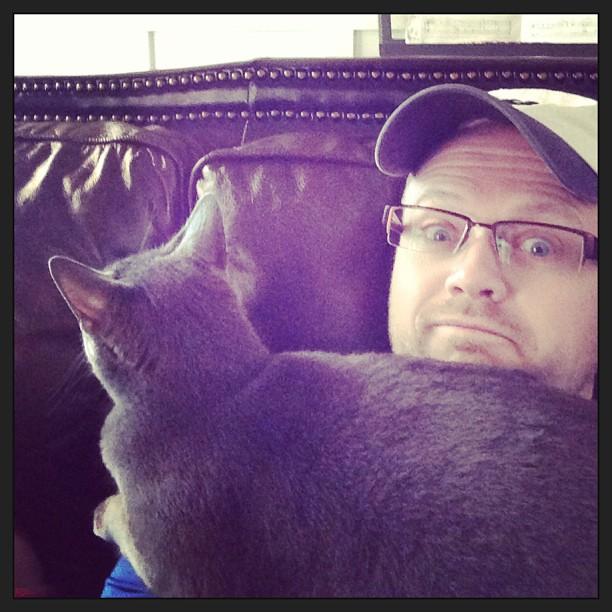 This cat has no boundaries...