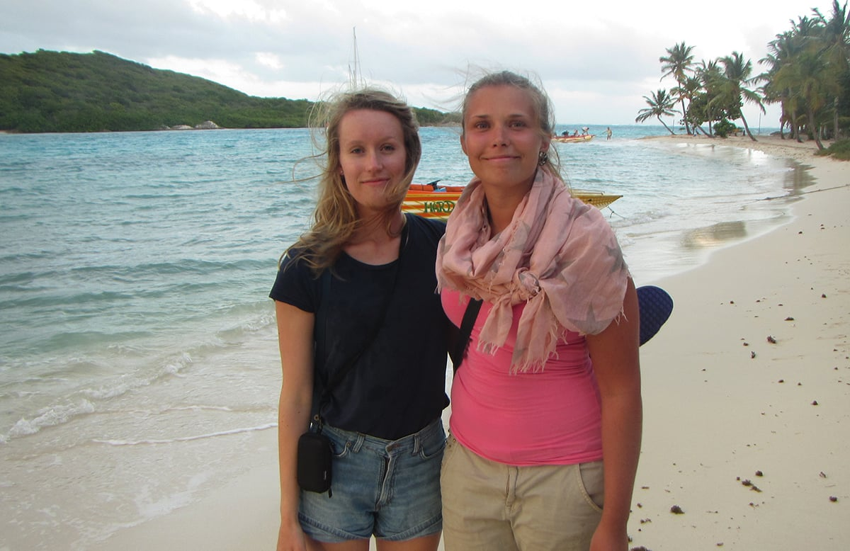 My friend Heidi, who started to build her own sailing boat after this trip