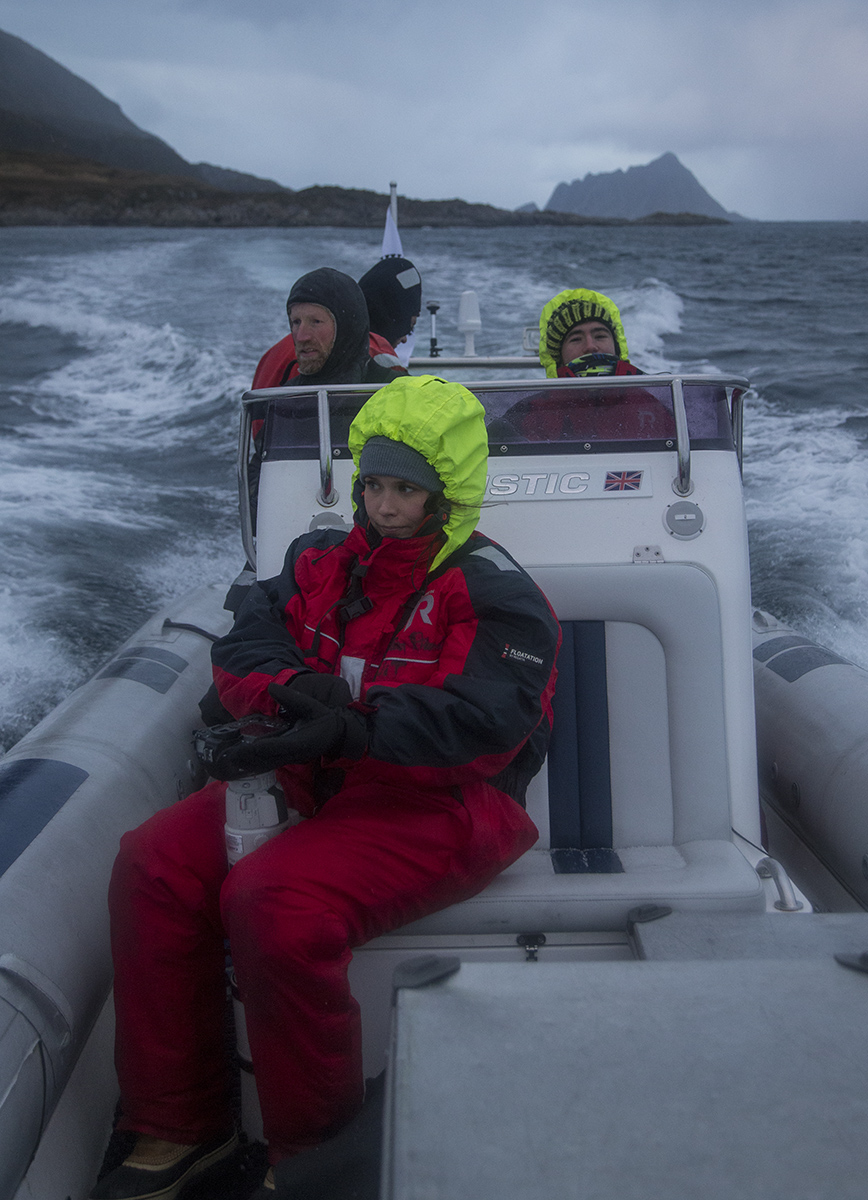 Looking for whales with Audun's boat. Photocredit: Jonas Beyer Petersen
