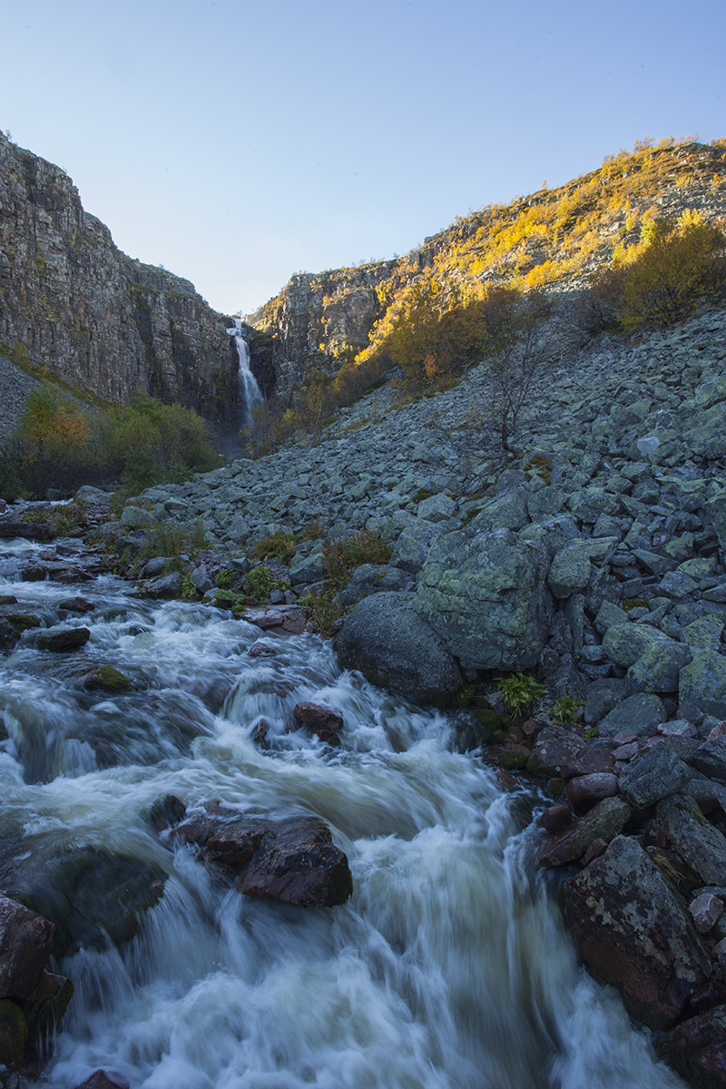 The longest waterfall of Sweden