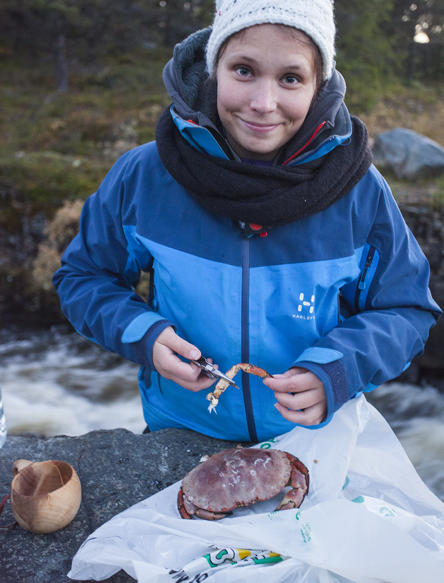 Trued out local delicacy, a crab. We only have crayfish in Finland so this was quite exotic!