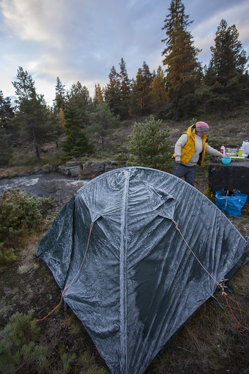 Your tent might freeze if camped next to a river. Will not do the same mistake again.