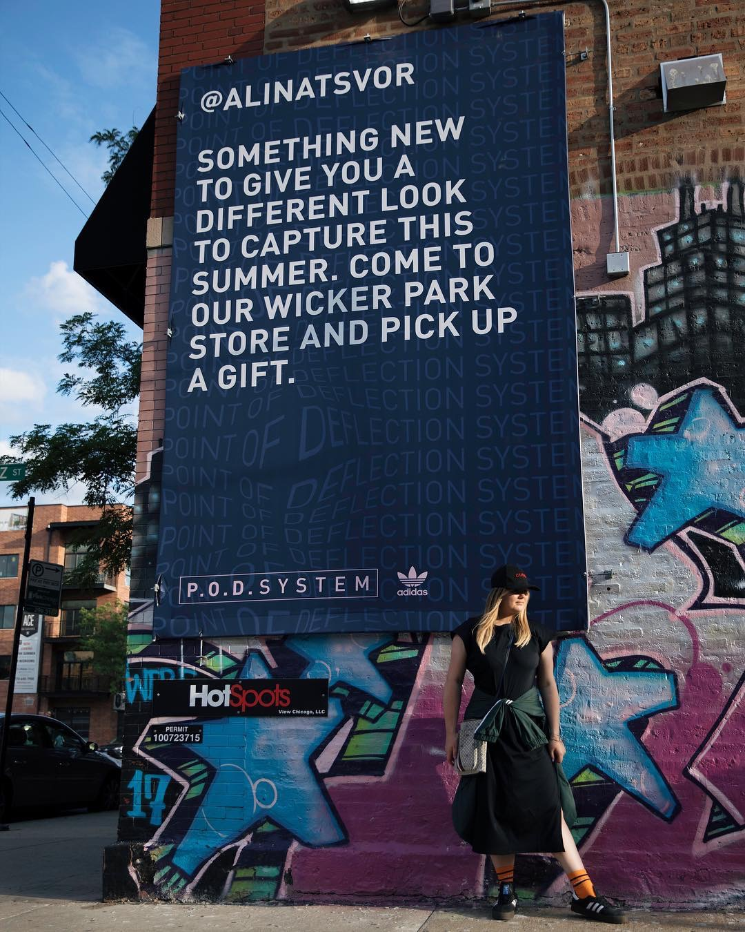 Adidas using OOH to compliment social strategy. Photo credit @alinatsvor