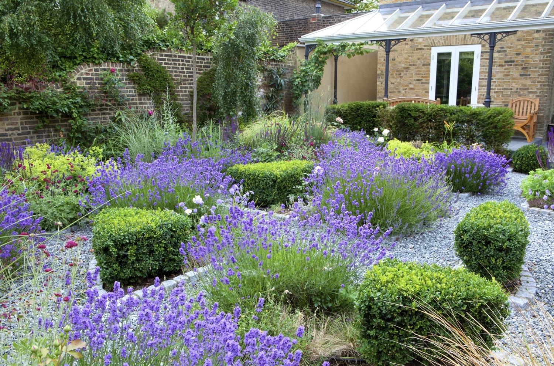 Circular parterre garden for an elegant early Victorian ...