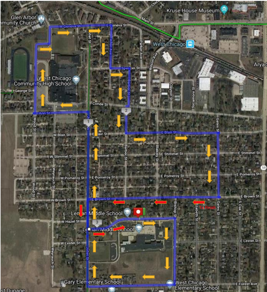 Updated route for the 2019 WE GO RUN.