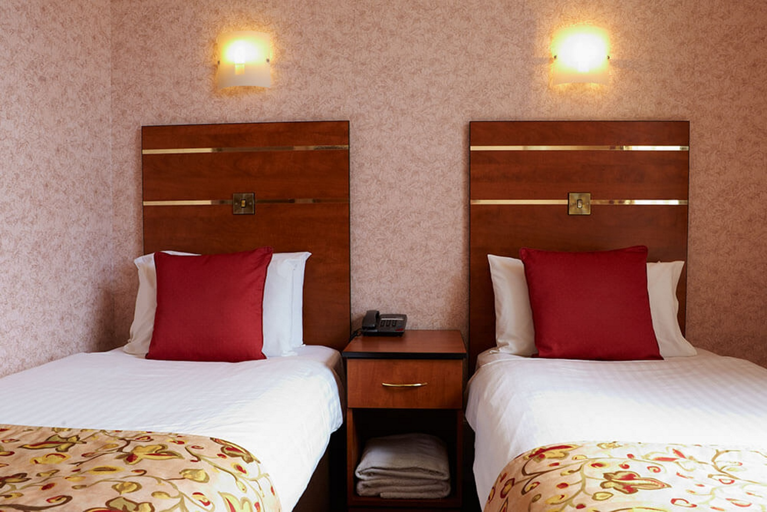 Twin room in the Red Lea Hotel, Scarborough